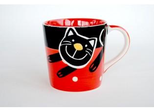Červený hrnek kočka 0.4L