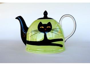 Zelená konvička ležící kočka 1.8l