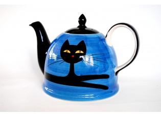 Modrá konvička ležící kočka 1.8l
