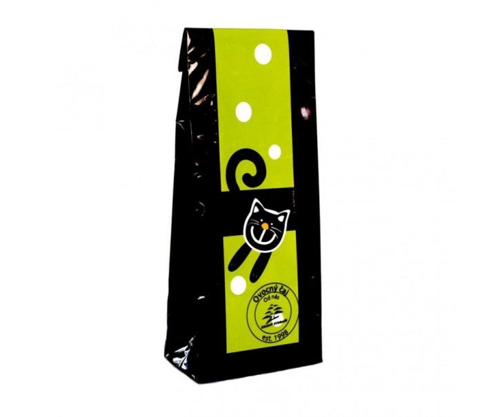 Černý čaj - zelená veselá kočka