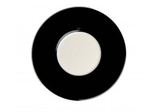Černý podšálek - Ø 14cm