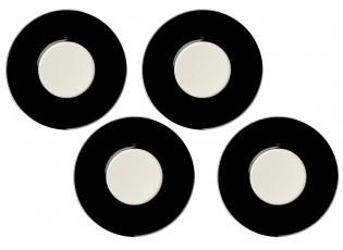 Sada 4x černý podšálek - Ø 14cm