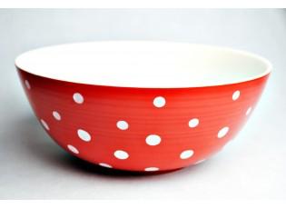 Salátová mísa červený puntík 3L