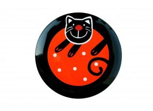 Talíř dezertní oranžová veselá kočka - Ø 20cm