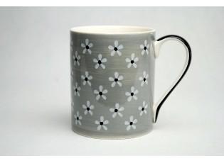 Hrneček šedý Snow flower 0,4l