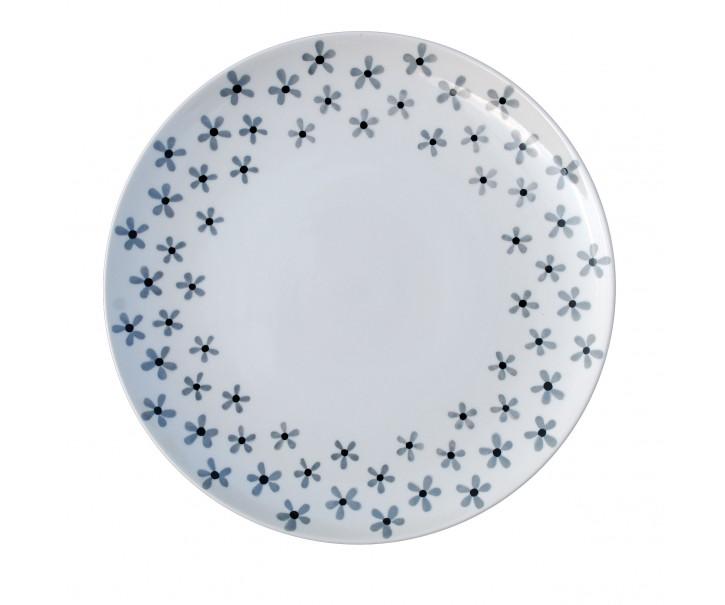 Dezertní talířek Snow flower - Ø 20cm