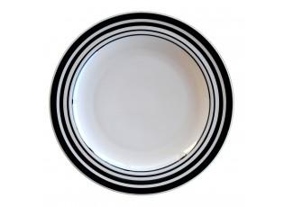 Mělký talíř s proužky - ∅ 27cm
