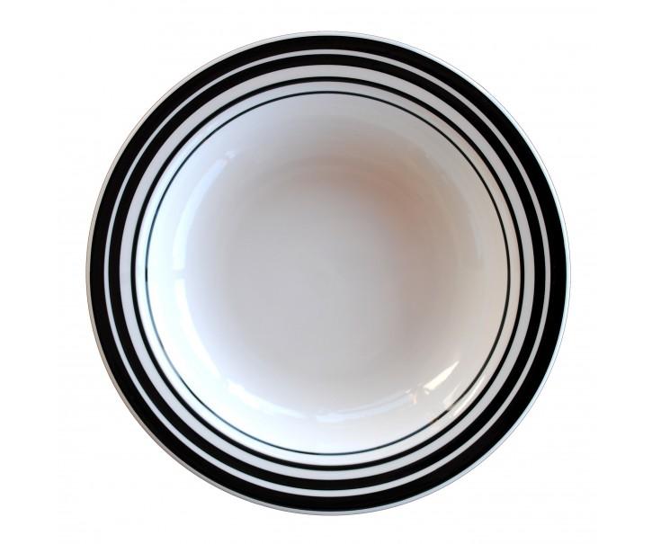Hluboký talíř s proužky - ∅ 21cm