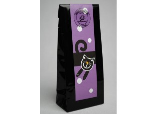 Černý čaj - fialová veselá kočka