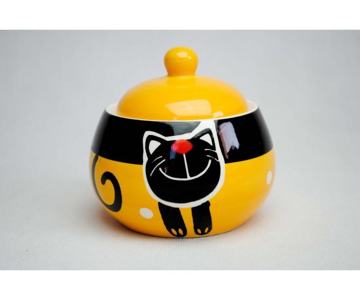 Cukřenka žlutá veselá kočka