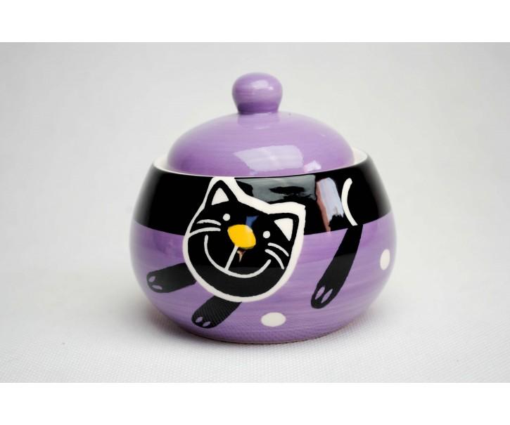 Cukřenka fialová veselá kočka