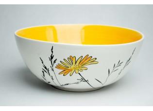 Salátová mísa Louka žluté květy 3L žlutý vnitřek