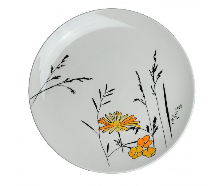 Mělký talíř Louka žluté květy - Ø 27cm