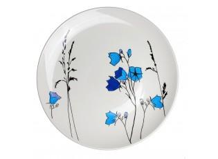 Mělký talíř Louka modré zvonky - Ø 27cm
