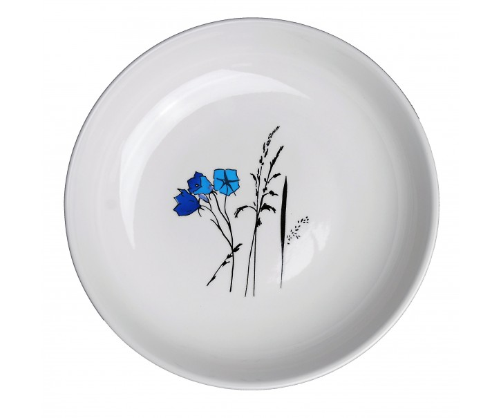 Hluboký talíř Louka modré zvonky - Ø 23 cm