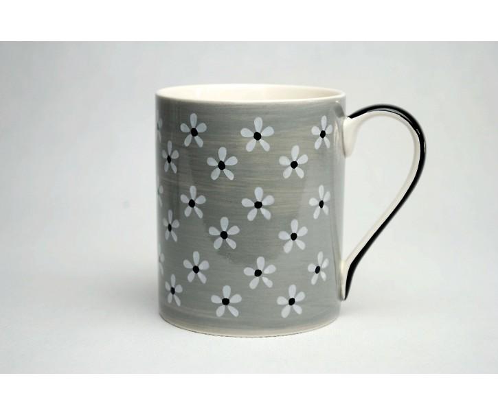 Hrneček šedý Snow flower 0,3l