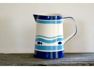Modro-bílý džbán rybky 2l