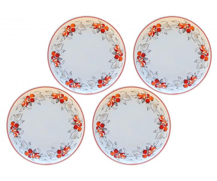 Sada 4x mělký talíř Babiččiny šípky - Ø 27 cm