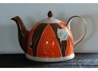 Oranžová konvička hrbící se kočka 1.8l