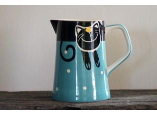 Modrý džbán veselá kočka 2l