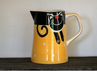Žlutý džbán veselá kočka 2l