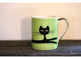 Zelený hrnek ležící kočka 0.4L