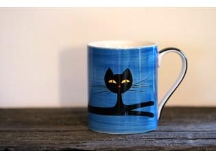Modrý hrnek ležící kočka 0.4L