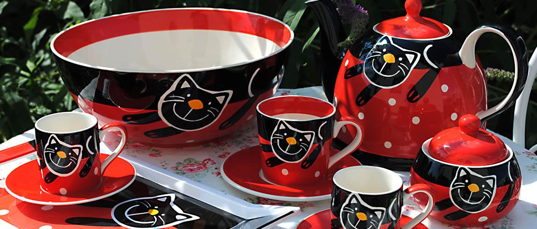 Červená veselá kočka