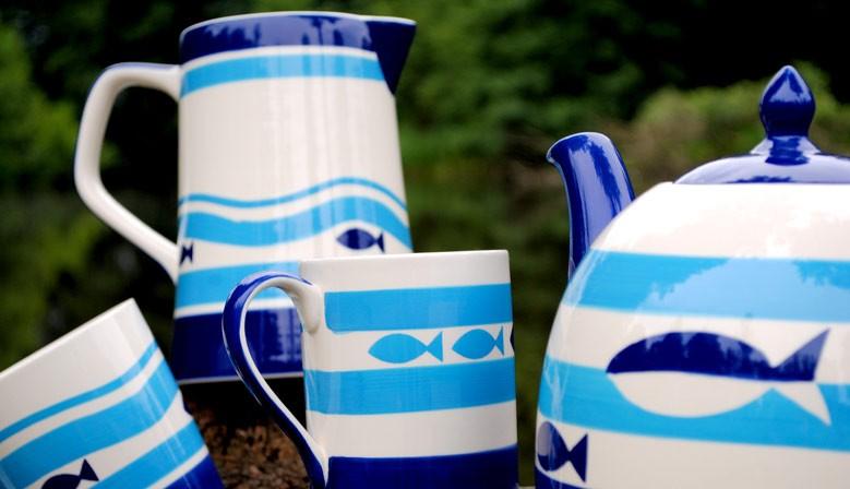 Modro-bílé rybky
